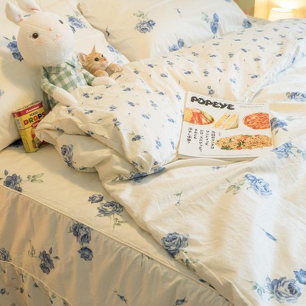 【預購】藍莓花園  DPS1雙人鋪棉床裙三件組 100%精梳棉 台灣製 棉床本舖