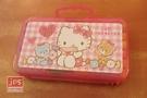 Hello Kitty 凱蒂貓 24色 手提果凍盒彩色筆 方格粉 953221