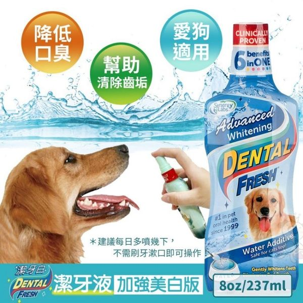 *KING WANG*美國Dental Fresh《犬用-潔牙液(加強美白版)》8oz