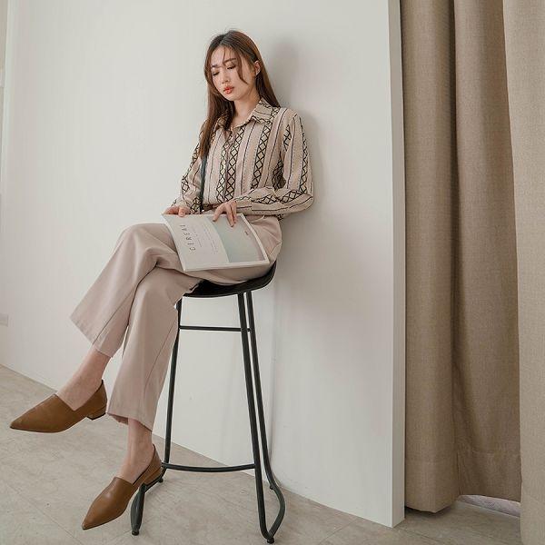MIUSTAR 隱藏雙釦壓褶西裝直筒寬褲(共3色,S-L)【NJ0158】預購