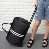 拉桿包 手提拉桿包女輕便大容量旅行包折疊行李包手拖包登機拉桿箱軟包男 - 歐美韓熱銷