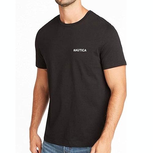 Nautica 男黑色圓領T恤衫