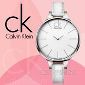 CK手錶 Calvin Klein 女錶 K2B23101 白面 完美弧形彎曲錶面時尚女錶