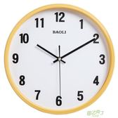 掛鐘  仿木掛鐘無印簡約客廳靜音時鐘北歐良品石英鐘錶