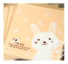幸福朵朵【自黏OPP包裝袋(禮物包裝.烘焙點心包裝)-G.微笑兔子款x10枚】西點糖果餅乾