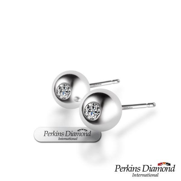 鑽石耳環 PERKINS 伯金仕 Anne系列 18K金 0.10克拉鑽石耳環
