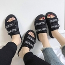 拖鞋男時尚防滑潮流一字涼鞋情侶外穿戶外沙灘鞋