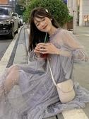 法式裙子仙女超仙森系復古過膝很仙洋裝2019新款夏收腰港風學生 米娜小鋪