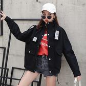 春季新款韓版學生bf原宿寬鬆學院風工裝棒球港味短外套女春秋