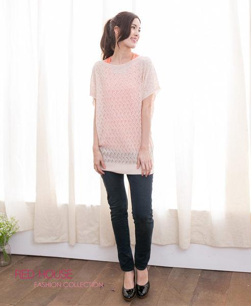 【RED HOUSE-蕾赫斯】水波紋寬鬆針織衫(共二色)
