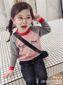 女童毛衣套頭秋冬新款童裝寶寶卡通針織衫春秋兒童長袖打底衫     時尚教主