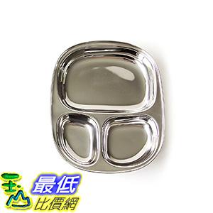 [美國直購] ECOlunchbox T1 不鏽鋼 兒童餐盤 Kid s Tray - Divided Stainless Steel Tray