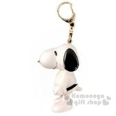 〔小禮堂〕史努比 全身造型塑膠鑰匙圈《白黑.跆拳道》掛飾.吊飾.鎖圈 4958185-01455