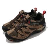 Merrell 戶外鞋 Alverstone GTX 棕 黑 膠底 防水 登山鞋 Gore-Tex 【ACS】 ML034535