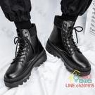 馬丁靴 冬季新款馬丁靴男高幫鞋子百搭男鞋中幫棉鞋加絨保暖雪地靴子-限時折扣
