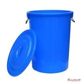 戶外垃圾桶 大號垃圾桶圓形戶外垃圾環衛桶廚房家用分類桶特大餐廚商用桶帶蓋T