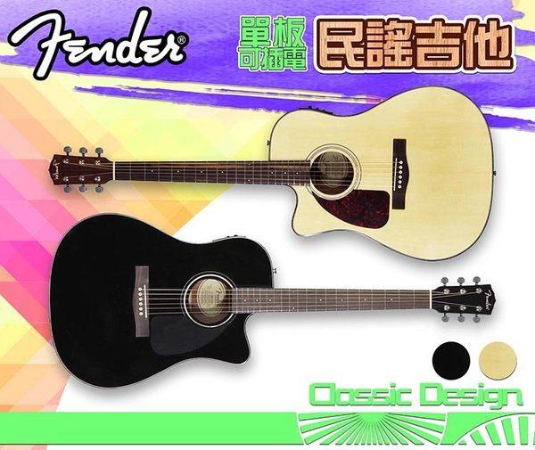 【小麥老師 樂器館】免運! Fender CD-140SCE 單板可插電 民謠吉他 電木吉他 [CD 140SCE]