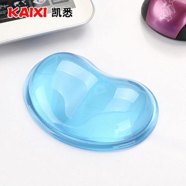 滑鼠墊 凱悉心形透明鼠標墊護腕手托卡通創意可愛硅膠辦公手枕水晶手腕墊 韓先生
