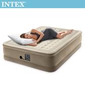 INTEX超厚絨豪華內建幫浦充氣床-寬152cm(64427)