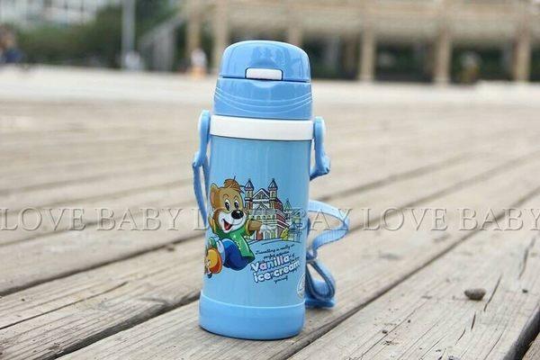 ☆╮寶貝丹童裝╭☆寶貝丹童裝 ☆ 新款 兒童 可愛 圖案 學習 水壺 吸管 水壺 保溫水壺 水杯 現貨