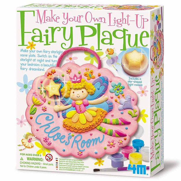 【4M】04611 美勞創意-花精靈夜光掛飾 Make Your Own Light-Up Fairy Plaque