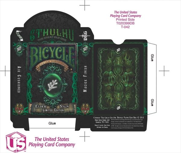 【USPCC 撲克】Cthulhu Bicycle Deck - Elder Sign Edition