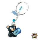 【收藏天地】台灣紀念品*喔密麻鑰匙圈-藍(夜光)∕吊飾 掛飾 包包 配件 御守 汽車 機車