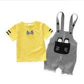 618好康鉅惠男寶寶嬰兒夏季背帶褲套裝小童夏天短袖1歲半