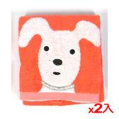 ★2件超值組★NON-NO無撚紗天狗毛巾-桔色(34*75cm)【愛買】