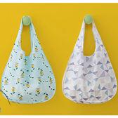 《J 精選》韓版小清新可摺疊收納購物袋/手提袋