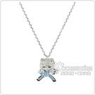 kate spade PRETTY KITTY小貓咪設計鑽鑲飾項鍊(銀x藍)
