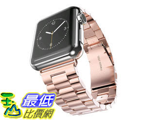 [105美國直購] 蘋果錶帶 KADES Stainless Steel 38mm iWatch Replacement Brushed Metal Wrist Band Bracelet B017KEWQE6
