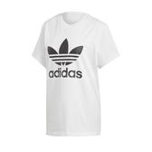 adidas 短袖T恤 Originals Boyfriend Trefoil Tee 白 黑 女款 男友T 三葉草 【PUMP306】 DX2322