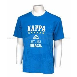 KAPPA~休閒 運動 彈性 纖維 T恤-寶藍 (A042-0075-5)