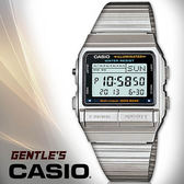 CASIO 手錶專賣店 卡西歐 DB-380-1D DATA BANK系列  男錶 30組電話記憶 兩地時間 碼錶  不鏽鋼錶帶