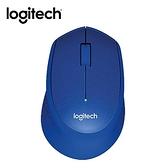 Logitech羅技 靜音無線滑鼠M331-藍【愛買】