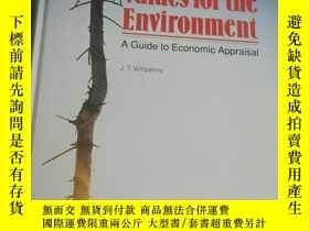 二手書博民逛書店Values罕見for the Environment: A G
