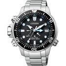 【送米奇電扇】CITIZEN 星辰 PROMASTER 光動能200米潛水錶-黑x銀/46mm BN2031-85E