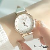 Lacuna.IEKE品牌。葉子紋路鉚釘刻度皮革錶帶手錶【ta075】911 SHOP
