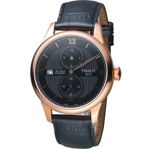 TISSOT LE LOCLE 力洛克三針一線自動機械錶 T0064283605802
