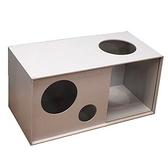 HOLA 堆疊格子櫃W70鏤空-灰