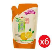 楓康一滴淨蘆薈多酚洗潔精補充包-柑橘植萃800g X6入