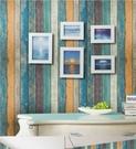牆紙 木紋壁紙自黏北歐ins牆紙客廳房間裝飾宿舍改造陽台牆貼紙防水