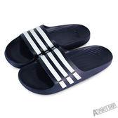 adidas  男 DURAMO SLIDE 運動拖鞋 藍/白-G15892