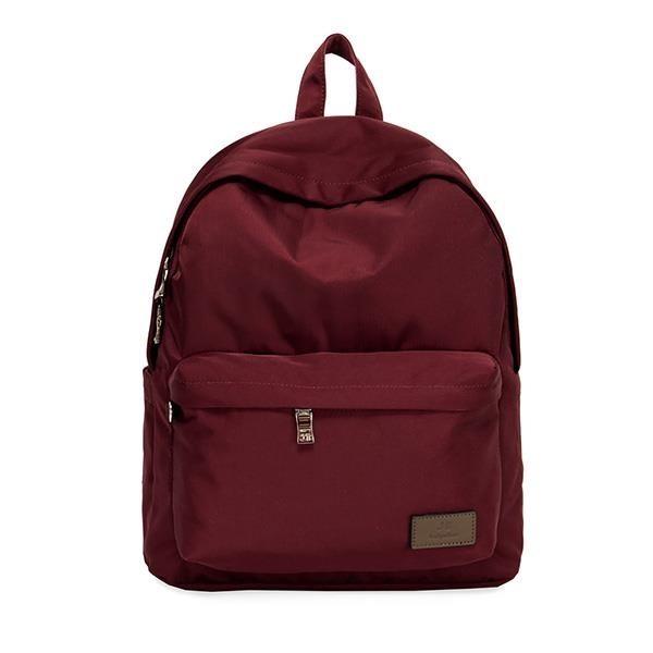 【南紡購物中心】J II 後背包-經典水洗防潑水後背包-酒紅色-6388-7(小款)