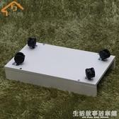 主機架可移動滑輪帶剎車台式電腦主機托架木質托盤機箱架底座象牙白色YTL