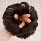 髮包 全真人髮假髮髮圈 卷髮丸子頭假髮包 半丸子頭花苞頭卷髮圈髮髻-凡屋
