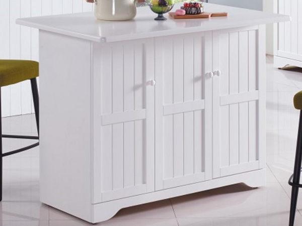 櫥櫃 餐櫃 AM-210-1 葛妮絲純白中島雙面餐櫃【大眾家居舘】