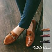 厚底鞋 胡迪馬銜釦樂福鞋。Bubble Nara波波娜拉。皮革的溫潤,金屬的質感MAA3226
