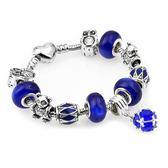 串珠手鏈 藍色水晶串珠手飾飾品s52
